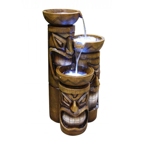 Tiki Tiered Fountain - Outdoor Art Pros