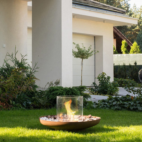 Tondo Commerce Ethanol Fireplace - Outdoor Art Pros