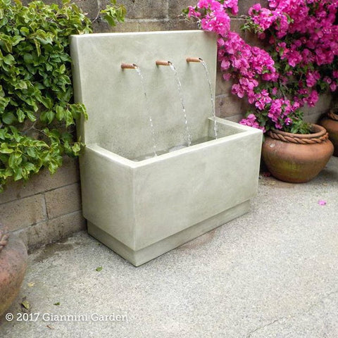 Tribus Wall Outdoor Water Fountain - Outdoor Art Pros