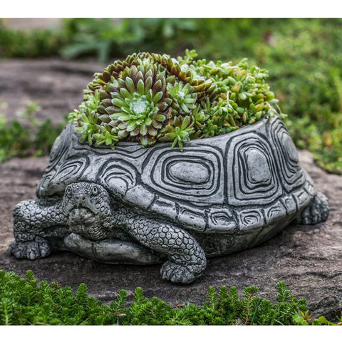 Turtle Cast Stone Garden Planter - Small - Outdoor Art Pros