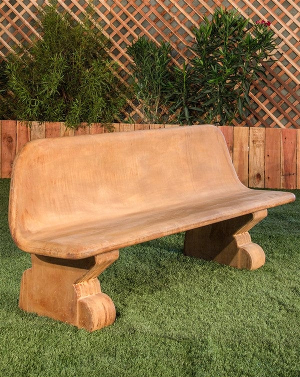 Tremendous Veneto Modern Stone Bench With Back Frankydiablos Diy Chair Ideas Frankydiabloscom