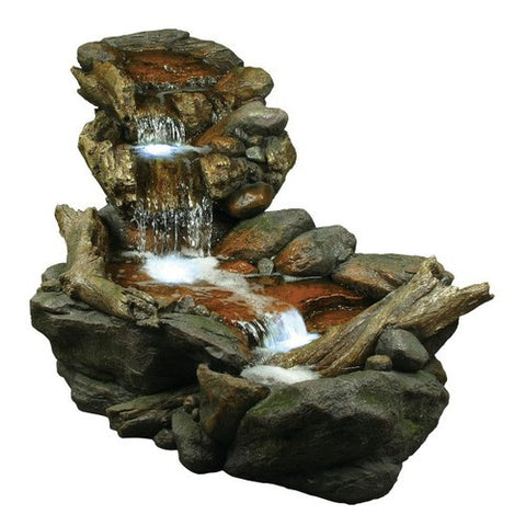 Alpine 59-Inch 3 Tier Rainforest Fountain With LED Lights