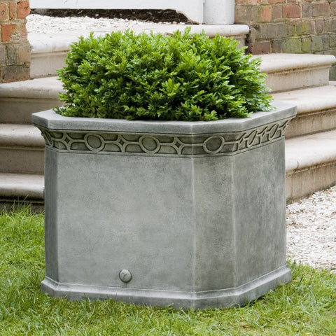Williamsburg Chippendale Fretwork Octagonal Garden Planter - Outdoor Art Pros