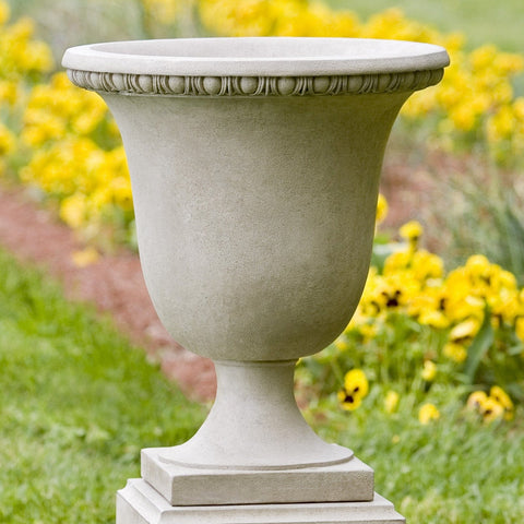 Williamsburg Egg & Dart Urn Garden Planter - Outdoor Art Pros