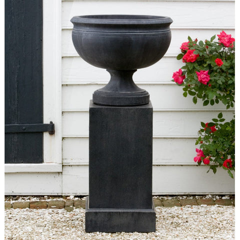 Williamsburg Plantation Urn on Classic Tall Pedestal - Outdoor Art Pros