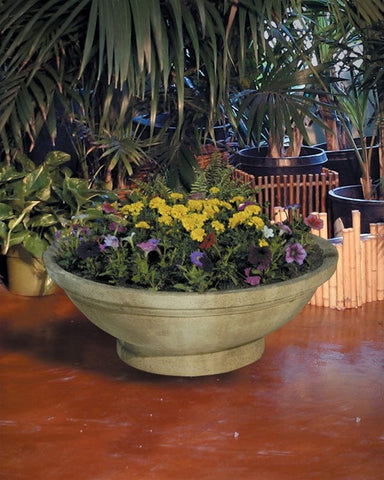 "Wok Planters with Pedestal 24"" - Outdoor Art Pros"