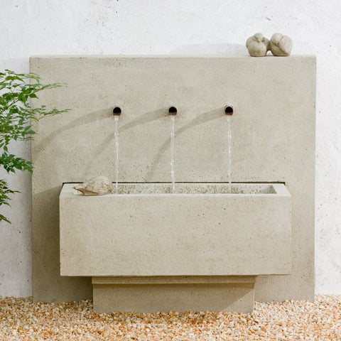 X3 Outdoor Wall Water Fountain - Outdoor Art Pros