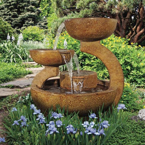 Zen Three Bowl Fountain - Outdoor Art Pros