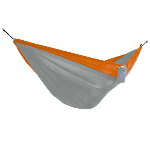 Grey/Orange Parachute Double Hammock - Outdoor Art Pros