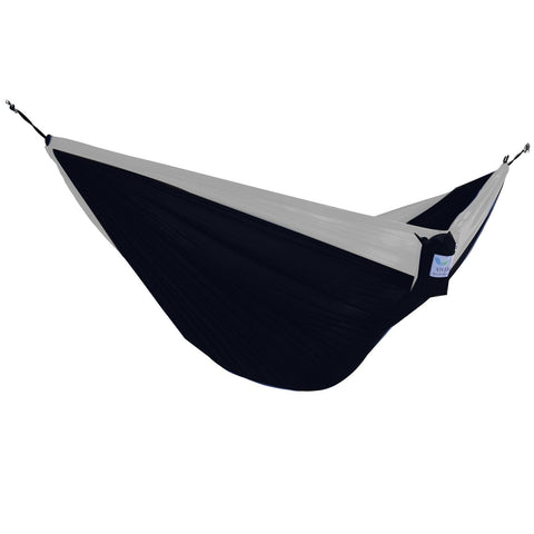 Black/Grey Parachute Double Hammock - Outdoor Art Pros
