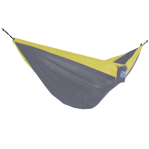 Grey/Yellow Parachute Double Hammock - Outdoor Art Pros
