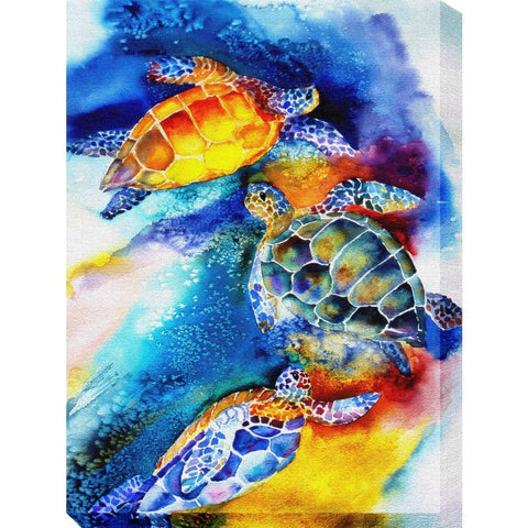 Turtle Play Outdoor Canvass Art - Outdoor Art Pros