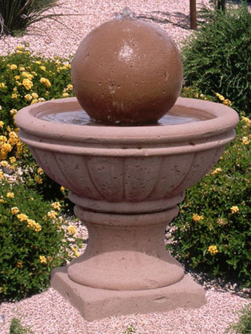 25 Inches Tall GFRC Tuscany Series Fountain - Outdoor Art Pros