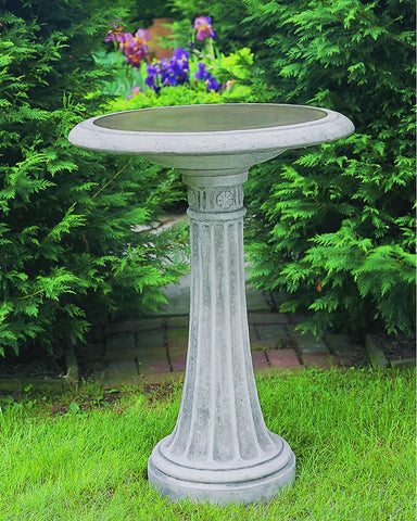 Chestnut Hill Cast Stone Birdbath - Outdoor Art Pros