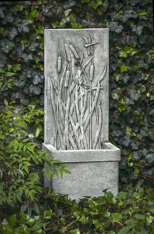 Dragonfly Wall Water Fountain - Outdoor Art Pros