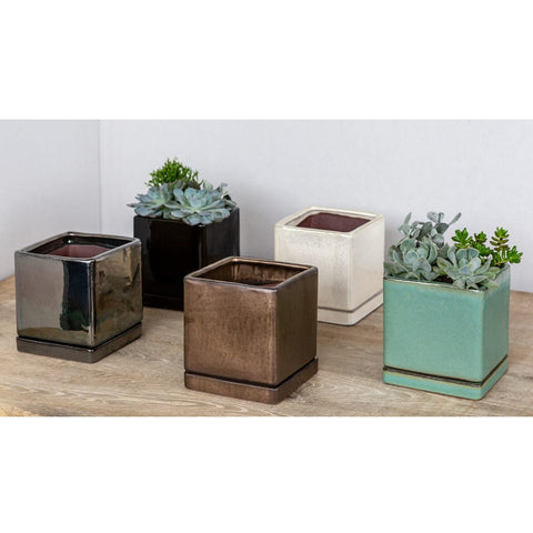 I/O Series Tall Cube Planters - Set of 6 - Outdoor Art Pros