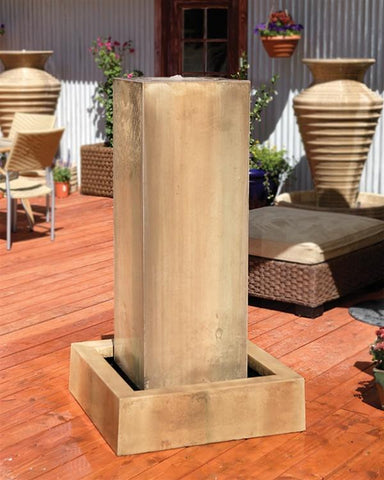 Monolith Outdoor Fountain - Outdoor Art Pros