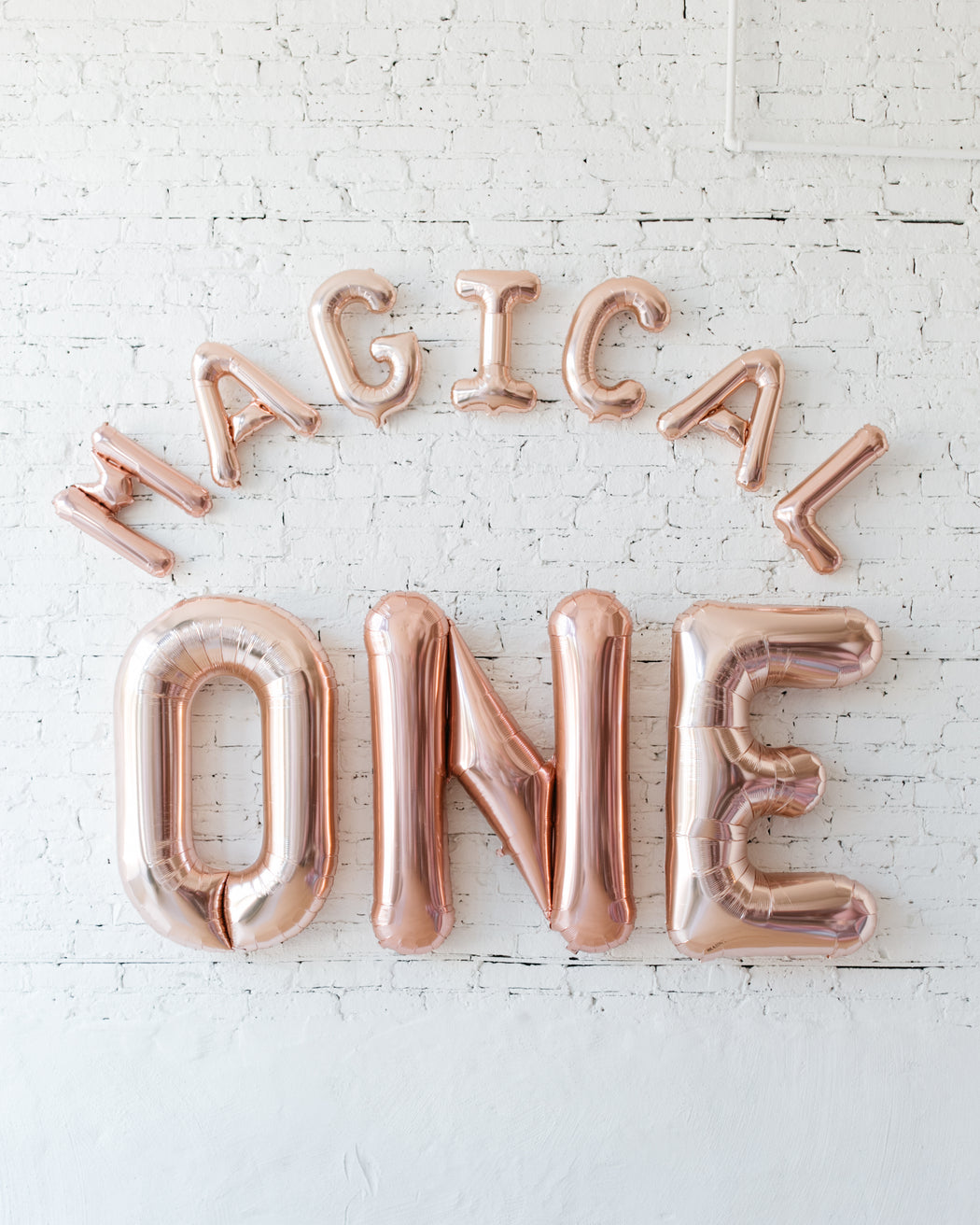 16in Rose Gold MAGICAL ONE Foil Letters Set