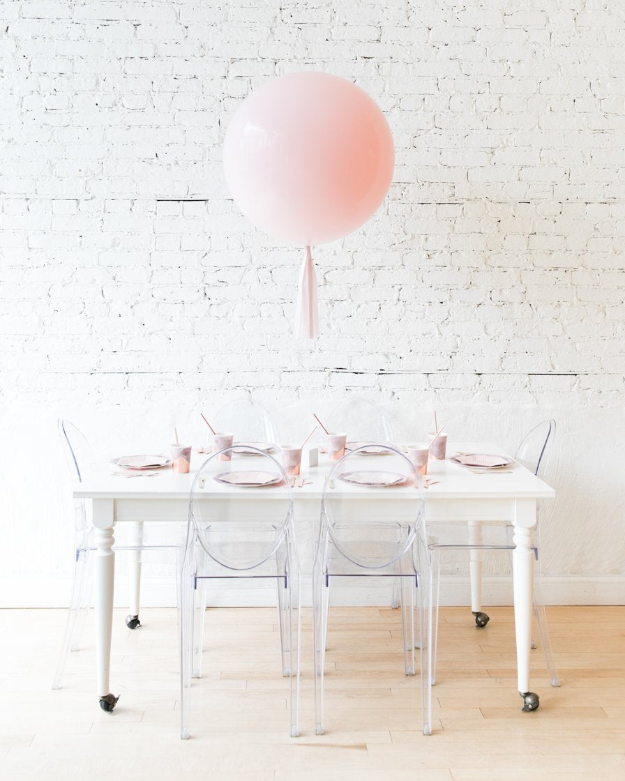Light Pink Giant Balloon and Mauve Skirt Centerpiece