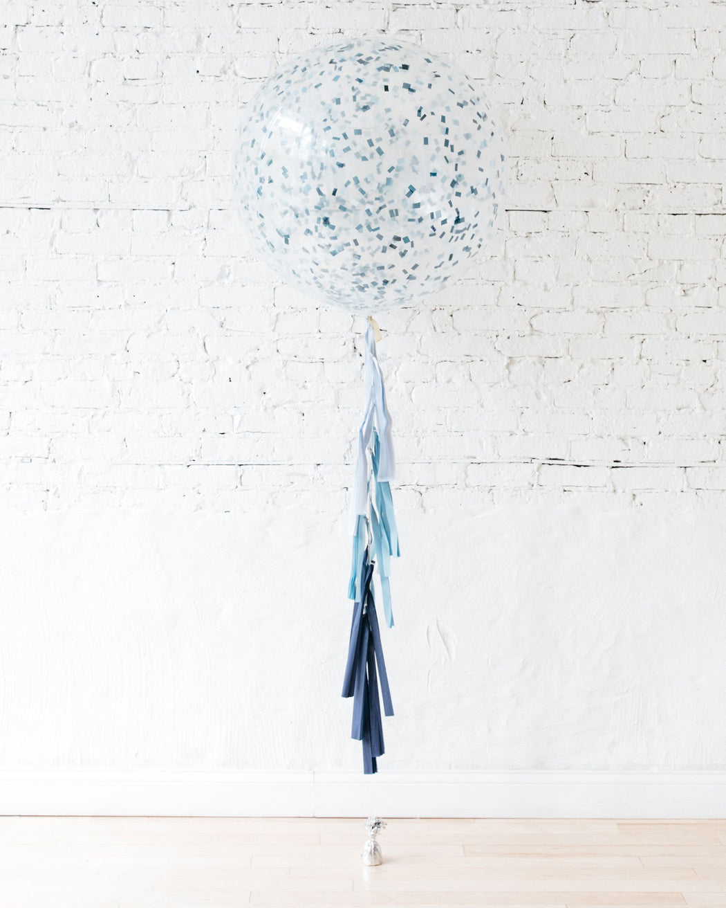 Giant Balloon with Blue Confetti