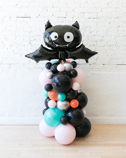 Halloween Theme -  Bat Foil Balloon Column - 4ft