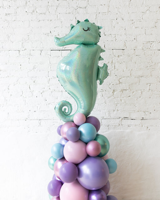 Mermaid Theme Seahorse Balloon Column - small