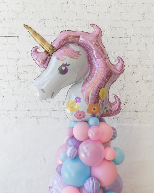Unicorn Theme Balloon Column - small