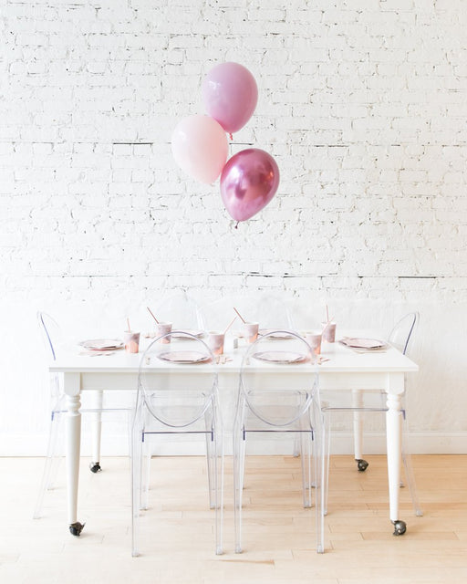 Modern Mauve - 11in Balloons Centerpiece - bouquet of 3