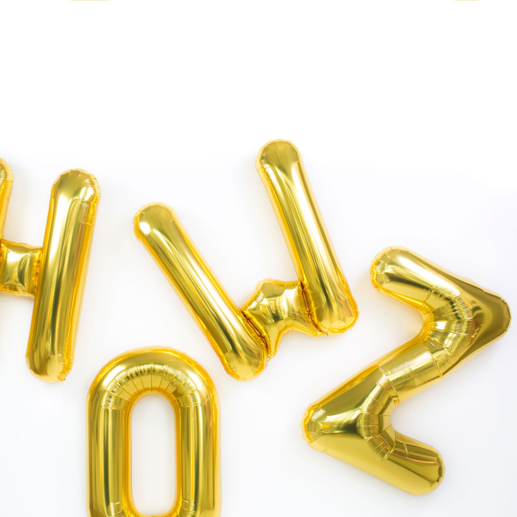 Gold Letter Mylar Balloons Local - Paris312