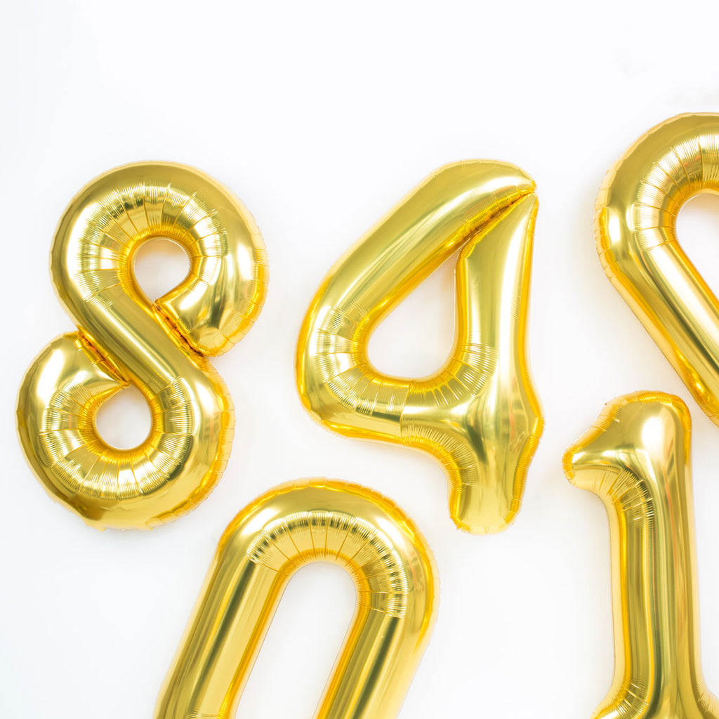 Gold Letter & Number Mylar Balloons - Paris312