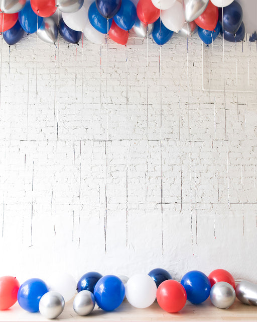 Red, White & Blue Palette Ceiling Balloon and Floor Balloon Set