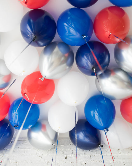 Red, White & Blue Palette 11in Ceiling Balloons - set of 25