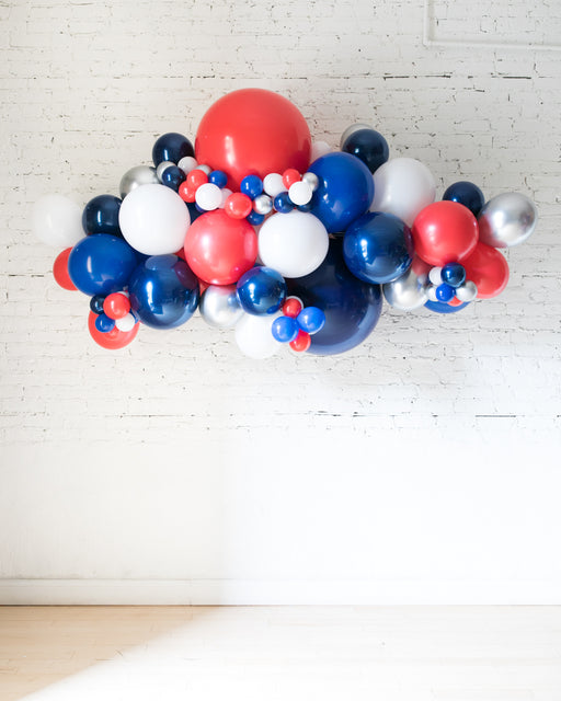 OUTDOOR-Red, White & Blue Palette Balloon Garland