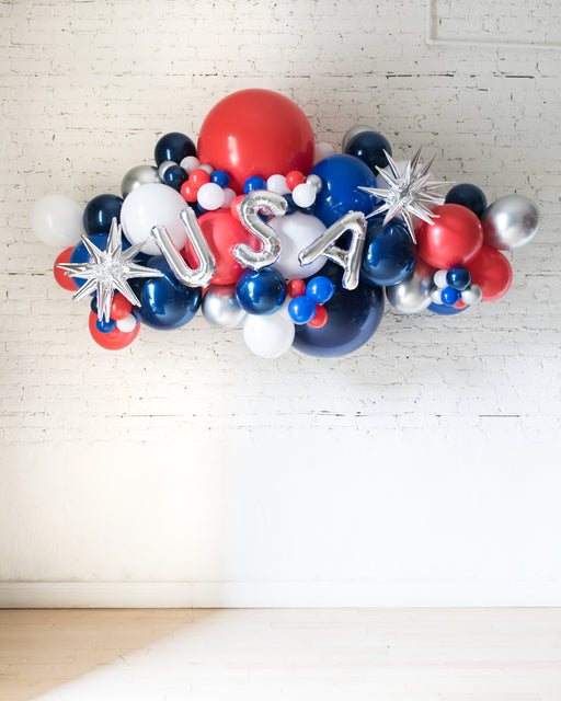 OUTDOOR-USA Red, White & Blue Palette Balloon Garland