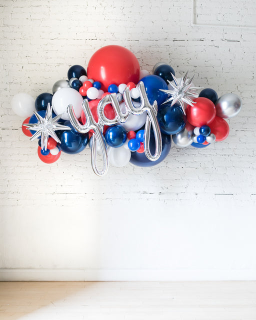 OUTDOOR-YAY Red, White & Blue Palette Balloon Garland