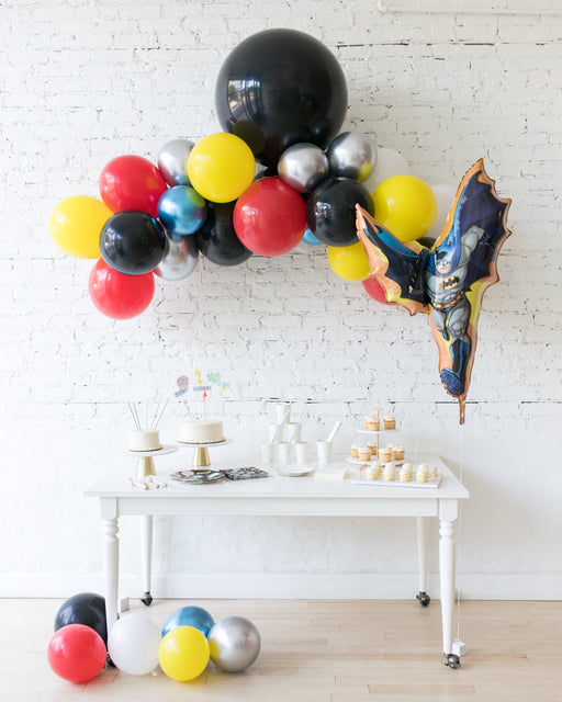 Superhero Theme - Floating Arch & Foil Balloon Set