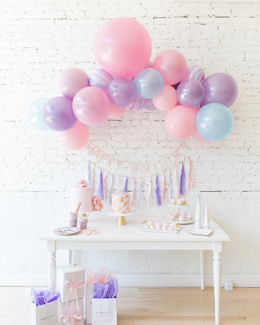 Unicorn Theme Floating Arch, Garland and Bunting Set