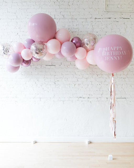 Shades of Mauve Palette Floating Arch and Personalized Giant Set