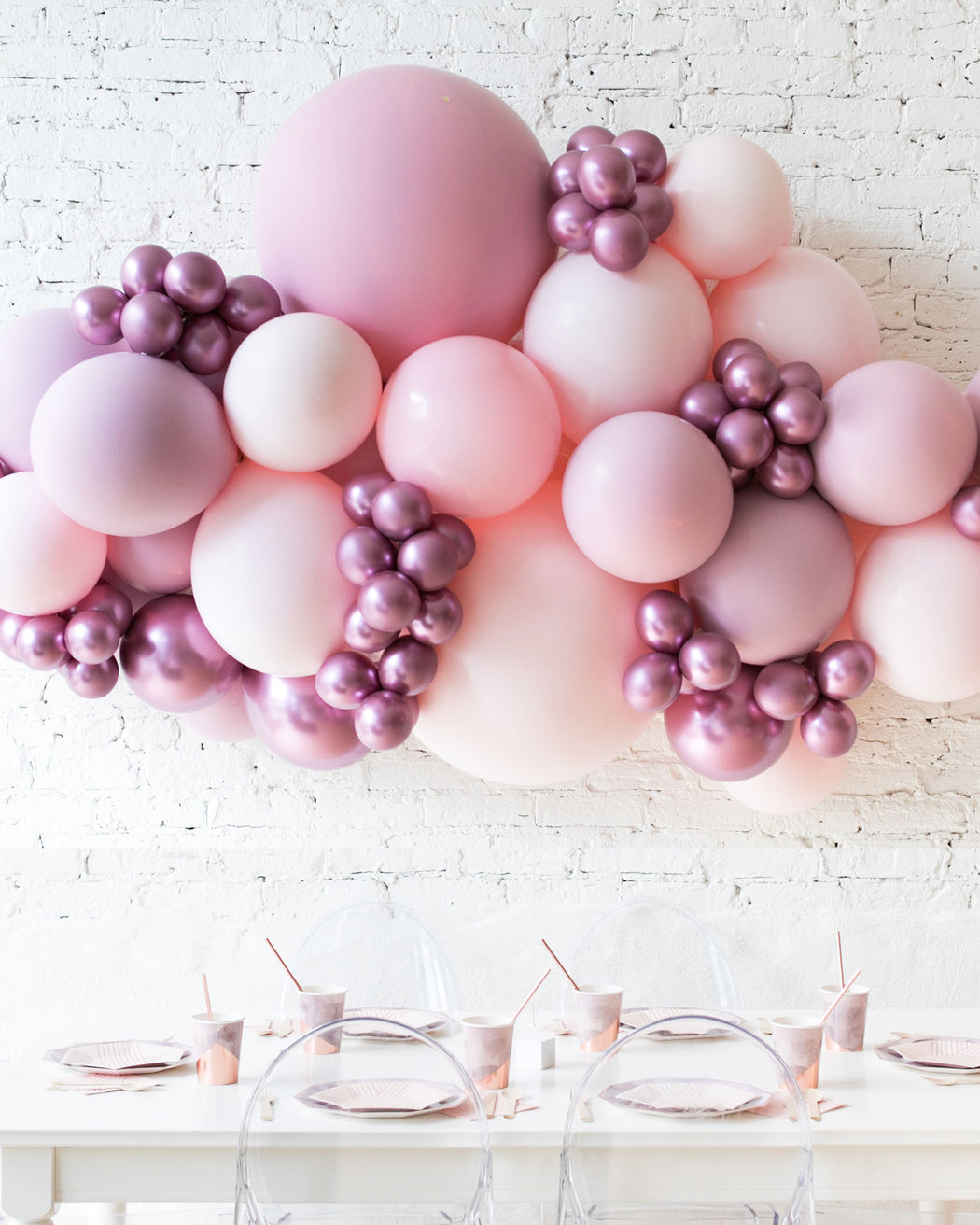 Modern Mauve - Backdrop Balloon Garland Install Piece - 6ft