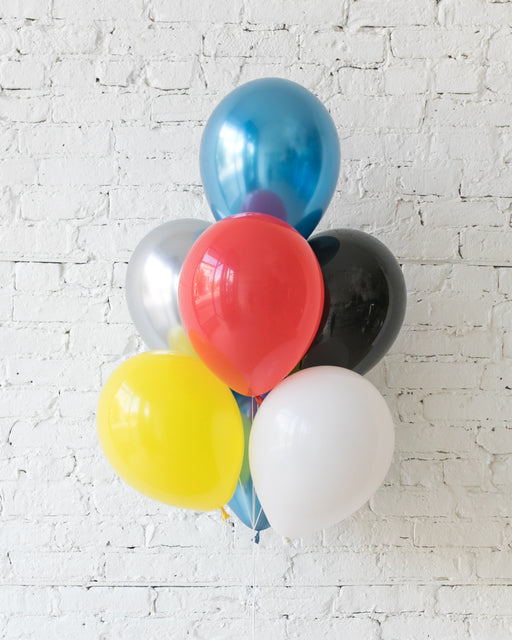 Superhero Theme - 11in Balloons - bouquet of 7