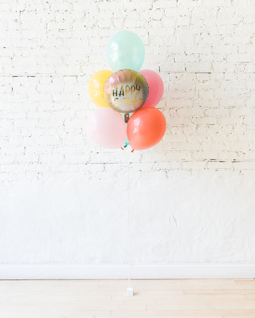 GIFT-Spring in Bloom Palette Happy Birthday Balloon Bouquet