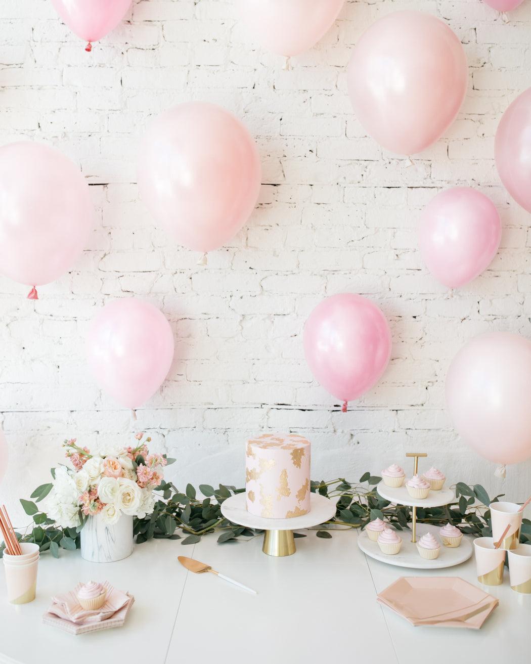 Shades of Pink Palette Individual Balloon Backdrop - set of 15