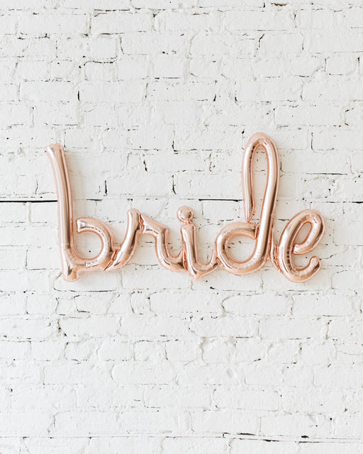 33in Rose Gold Bride Script