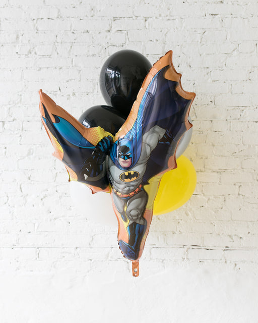 Superhero Theme - Batman and 11in Balloons - bouquet of 7