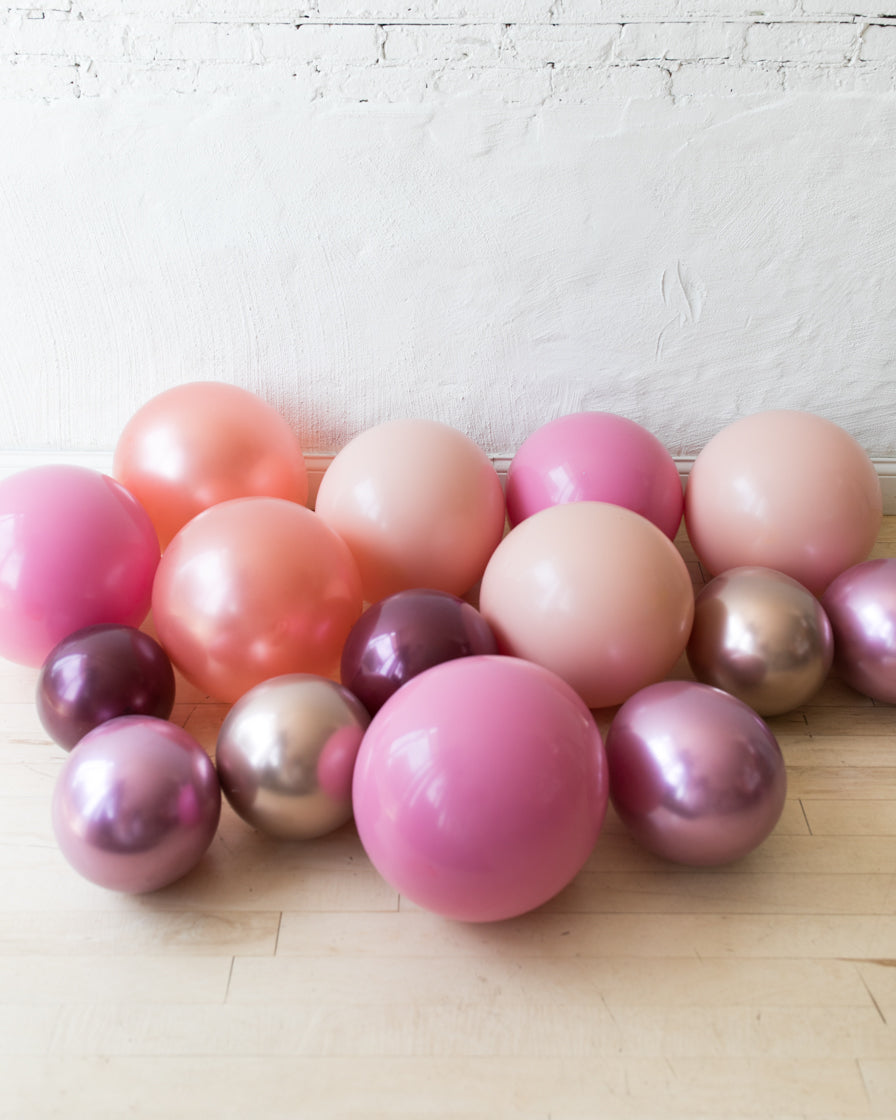 Berry Blush - Floor Balloons - 15 counts