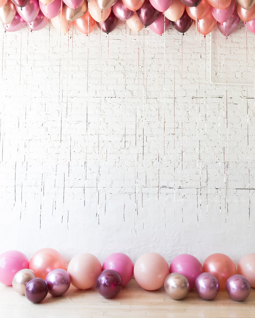 Berry Blush - Ceiling & Floor Balloon Set