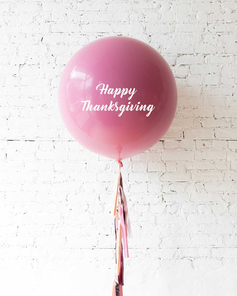 Berry Blush - Happy Thanksgiving Balloon with Tassel