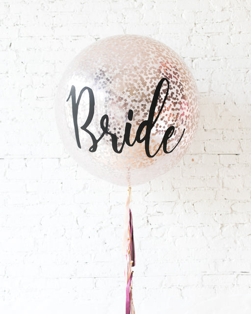 Berry Blush - BRIDE Confetti Giant Balloon with Tassel