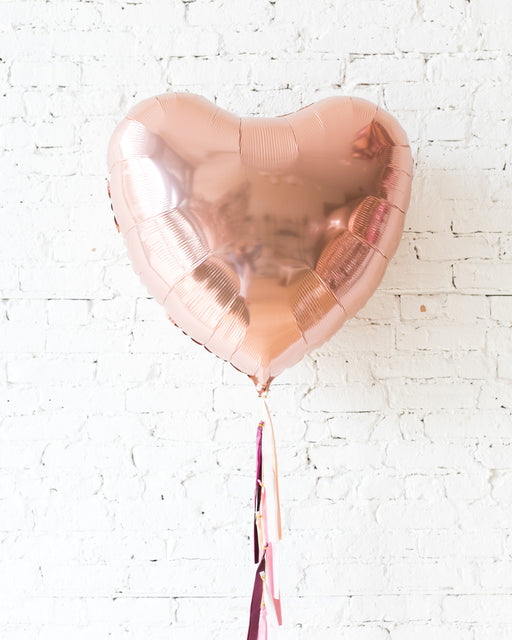 Berry Blush - 36in Heart Foil Balloon with Half-Tassel