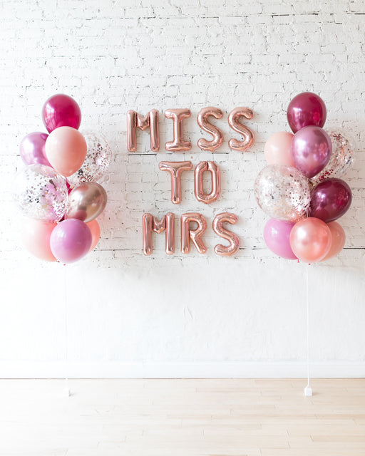 Berry Blush - Letters & Confetti Balloon Bouquets Set